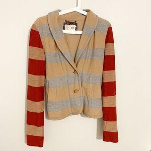 Saturday Sunday Anthropologie striped blazer